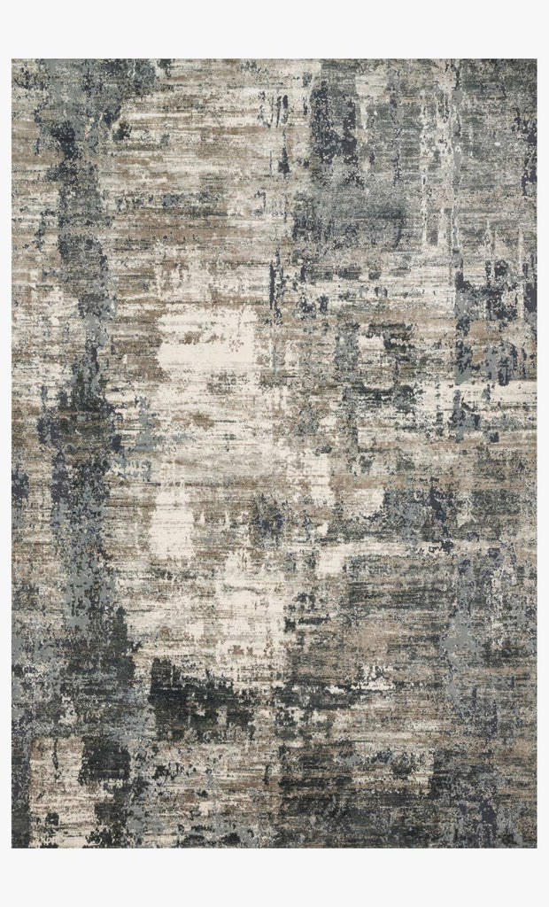 Cascade Rug in Ivory & Charcoal design by Loloi