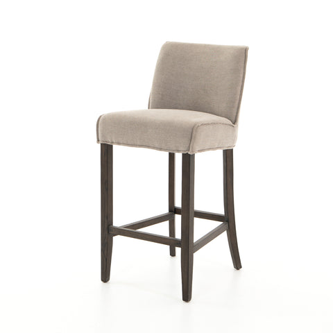 Aria Bar Counter Stools In Heather Twill Stone