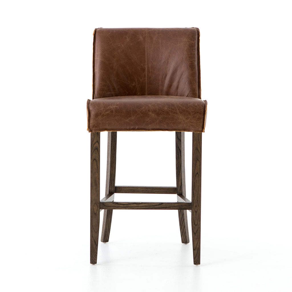 Aria Bar Counter Stools In Sienna Chestnut