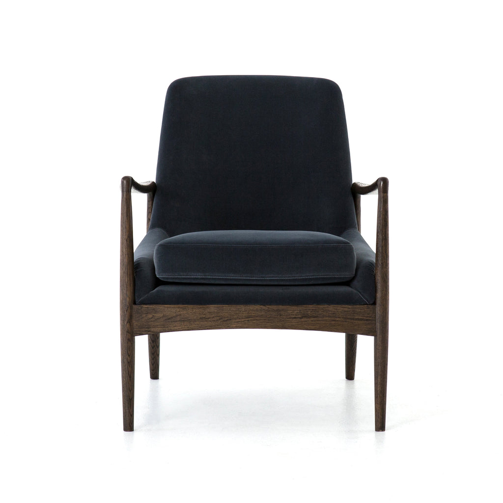 Braden Chair in Modern Velvet Shadow by BD Studio