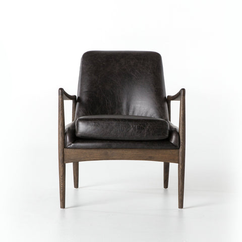 Aidan Leather Chair In Durango Smoke