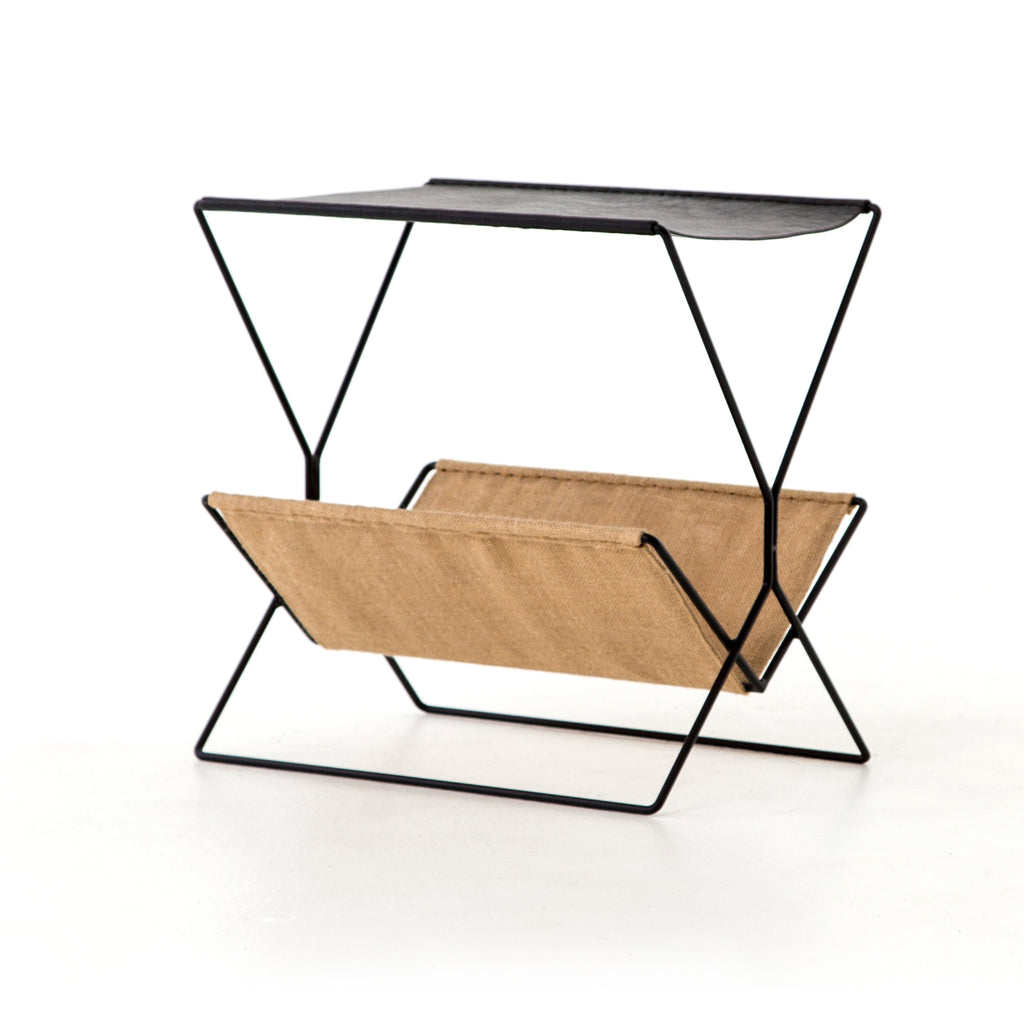 Distressed Magazine Rack design by BD Studio