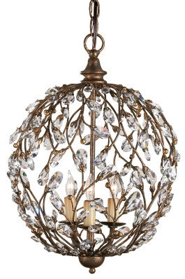 Crystal Bud Sphere Chandelier design by Currey & Company