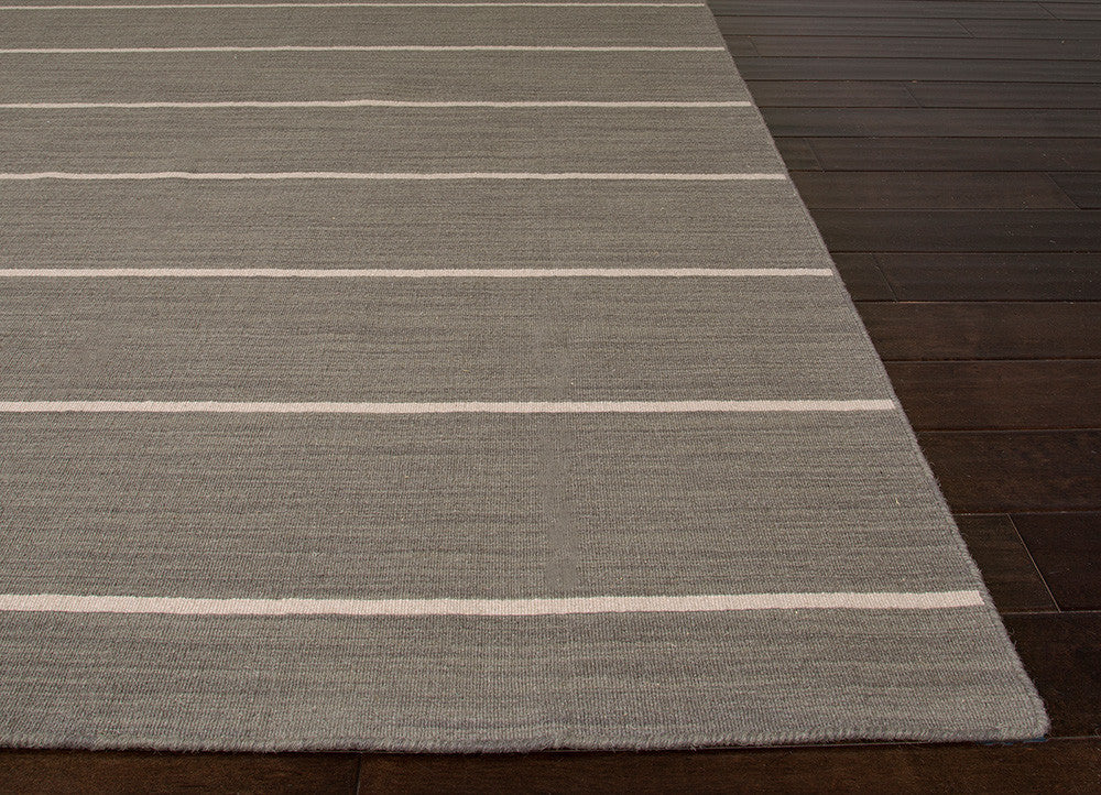 Coastal Living Dhurries Collection Cape Cod Rug in Stone Grey design by Jaipur