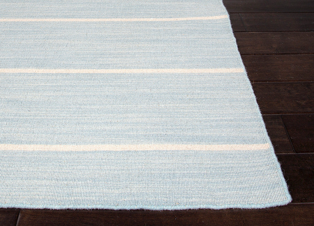Cape Cod Handmade Stripe Blue & White Area Rug