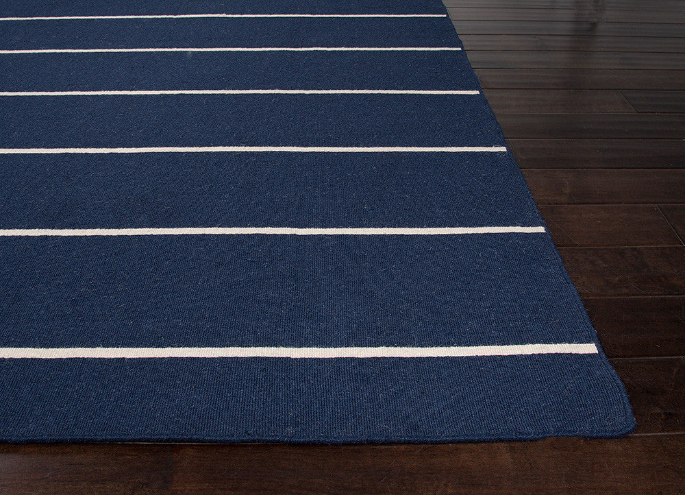Coastal Living Dhurries Collection Cape Cod Rug in Blue & White design by Jaipur Living