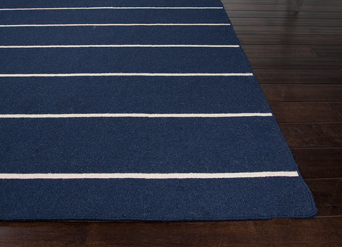 Coastal Living Dhurries Collection Cape Cod Rug in Blue & White design by Jaipur