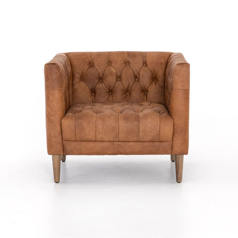 Williams Leather Chair in Natural Washed Camel,
