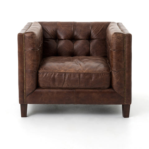 Abbott Club Chair in Cigar by BD Studio