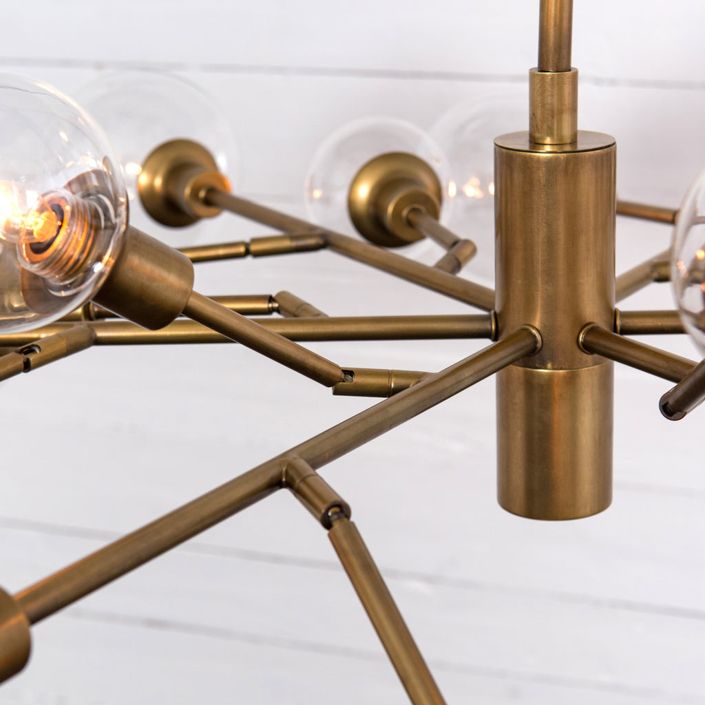 Pellman Chandelier In Matte Brass