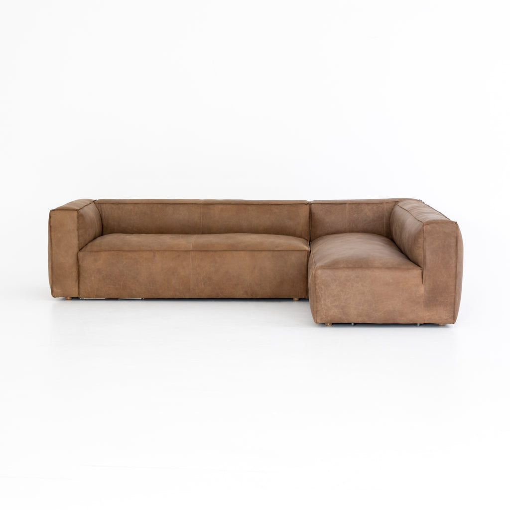 Nolita 2 Pc Laf Sectional In Natural Washed