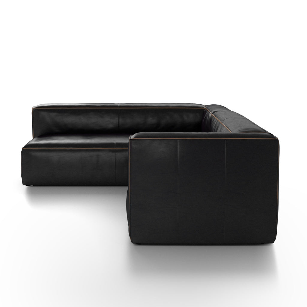 Nolita Sectional In Old Saddle Black