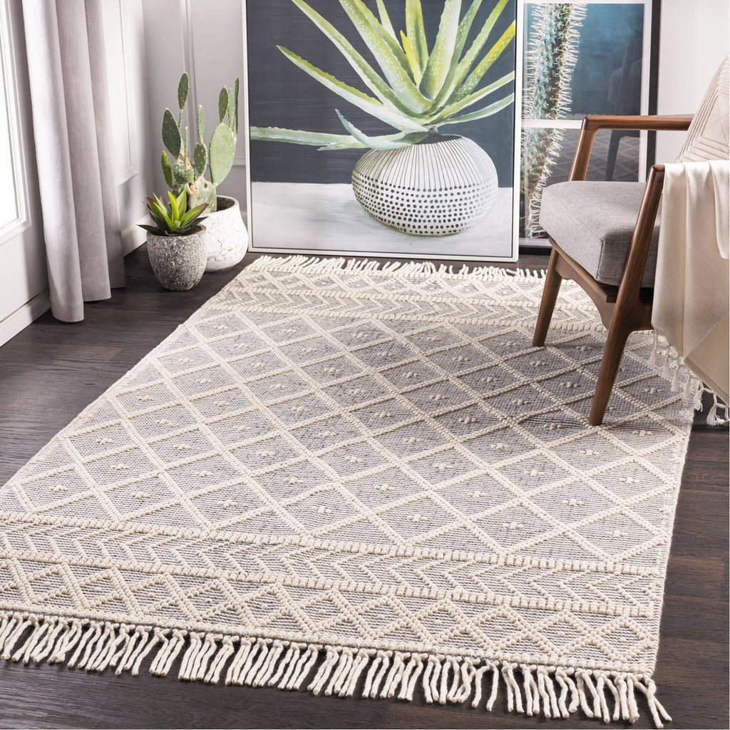 Casa DeCampo CDC-2304 Hand Woven Rug in Ivory & Medium Grey by Surya