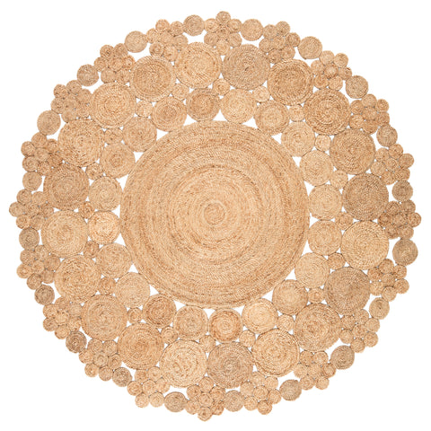 Marigold Natural Dots Beige Area Rug