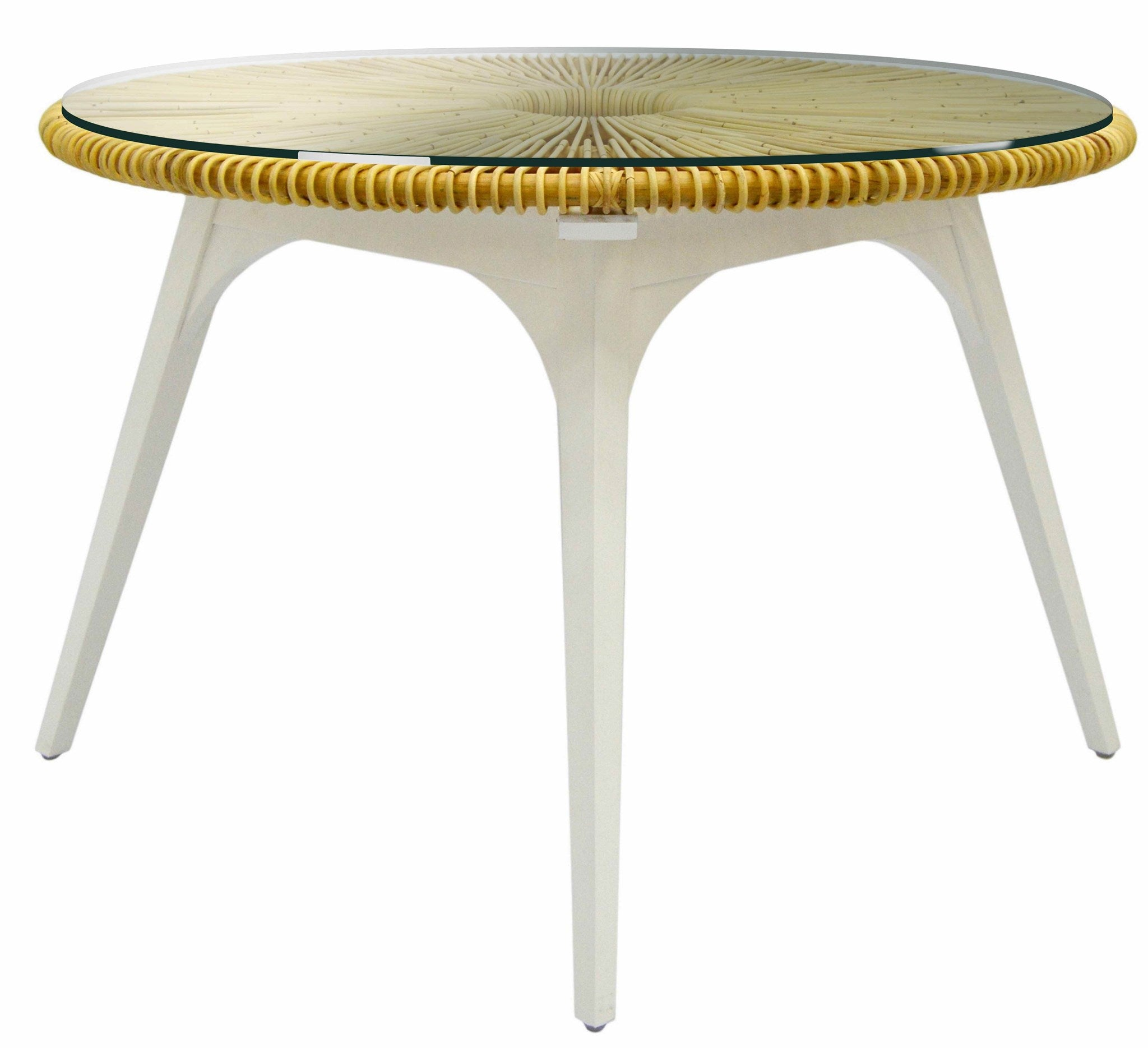 Clemente Round Dining Table - Natural/White by Selamat
