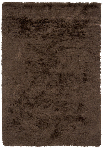 Celecot Collection Hand-Woven Area Rug in Dark Brown