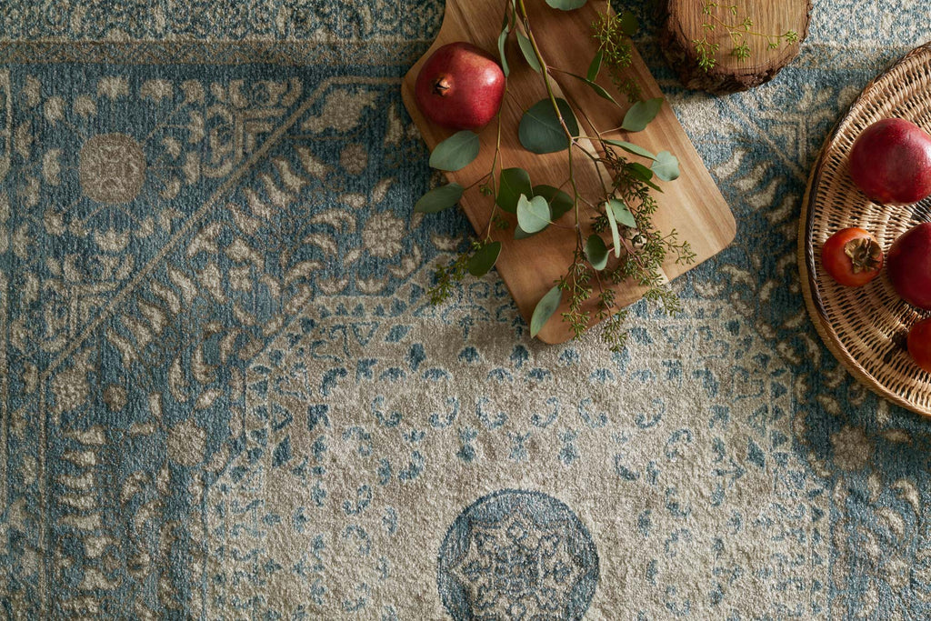 Century Rug in Blue & Sand design by Loloi
