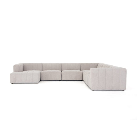 Langham Channelled 6-Piece Left Arm Facing Chaise Sectional by BD Studio