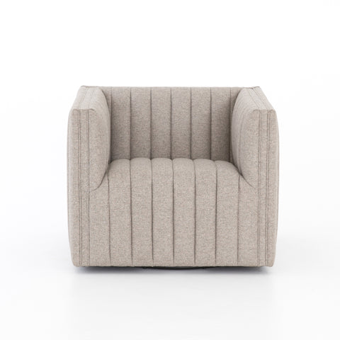 Augustine Swivel Chair in Orly Natural