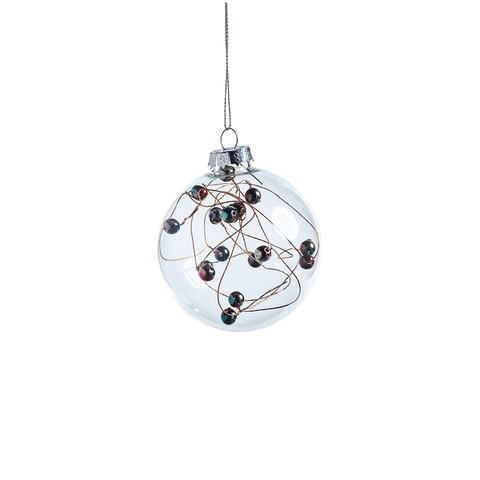 Multicolor Beaded Ball Ornament