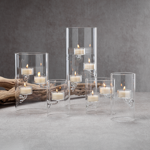 Suspended Glass Tealight Holder and Hurricane