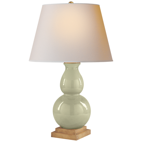Gourd Form Small Table Lamp by Chapman & Myers