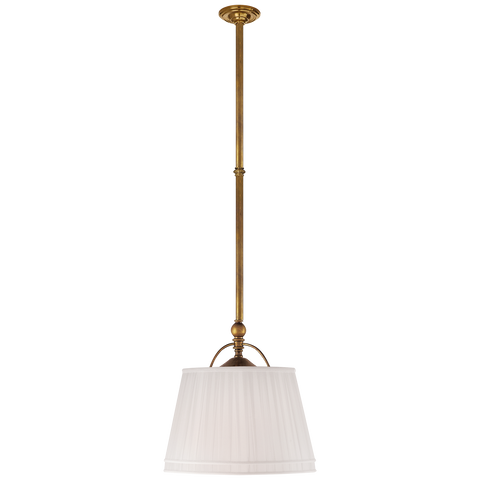Sloane Single Shop Light with Linen Shade by Chapman & Myers
