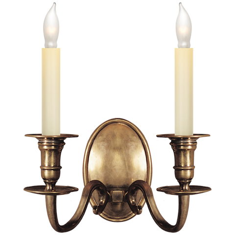Grosvenor House Double Sconce by Chapman & Myers