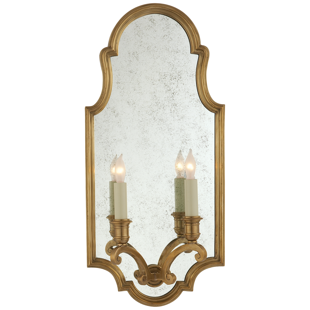 Sussex Medium Framed Double Sconce by Chapman & Myers
