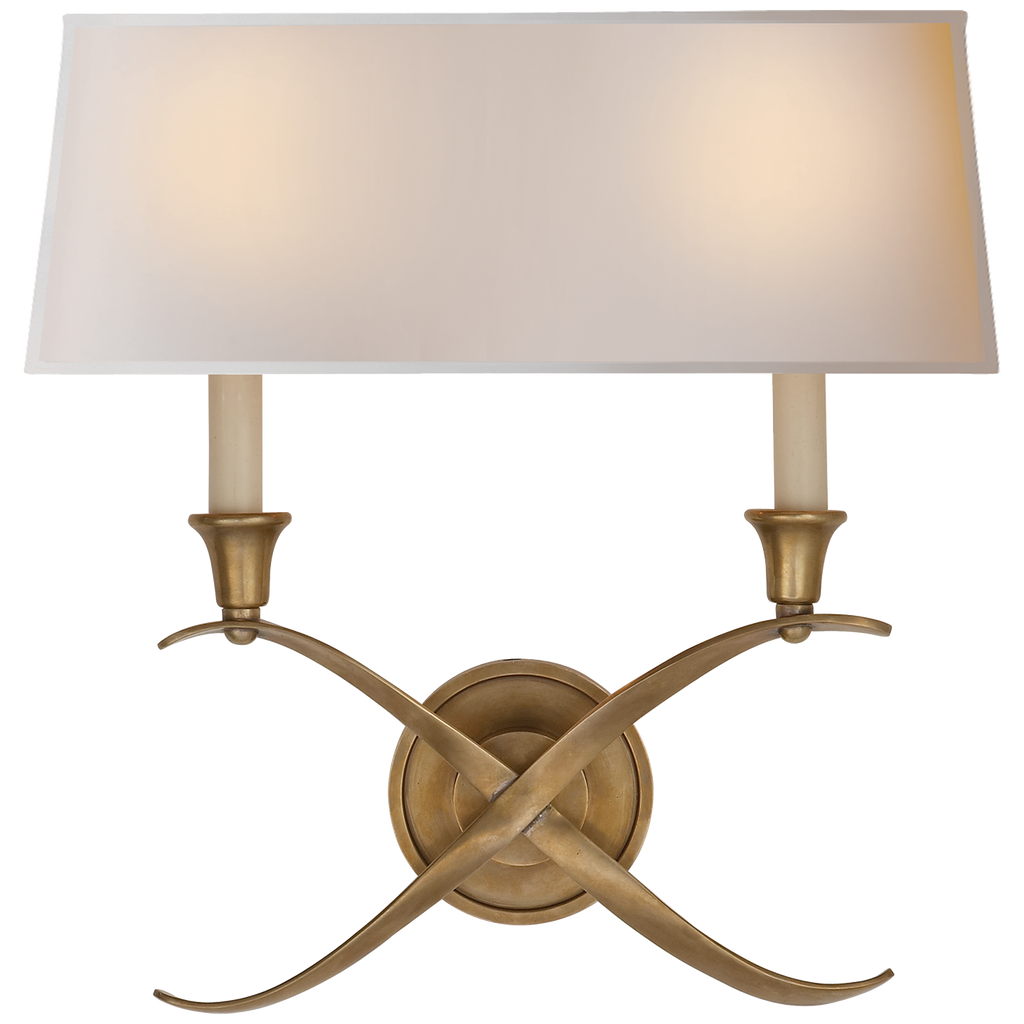 Cross Bouillotte Large Sconce by Chapman & Myers