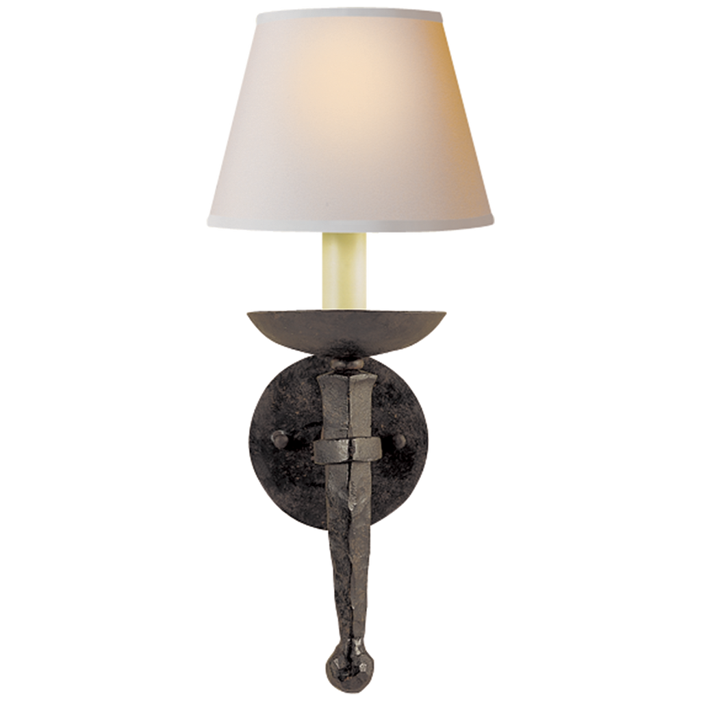 Iron Torch Sconce by Chapman & Myers