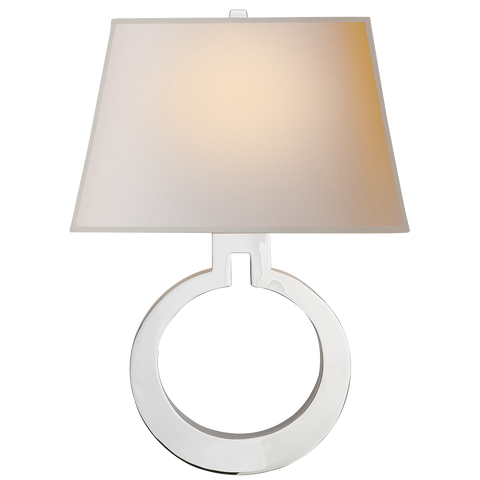 Ring Form Large Wall Sconce by Chapman & Myers