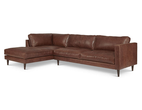 Cheviot Arm Left Sectional in Belle Boot
