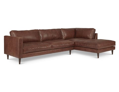 Cheviot Arm Right Sectional in Belle Boot