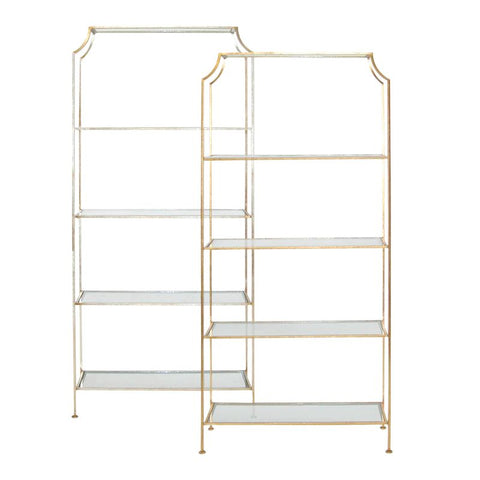 Chloe Gold Leaf Etagere design by BD Studio