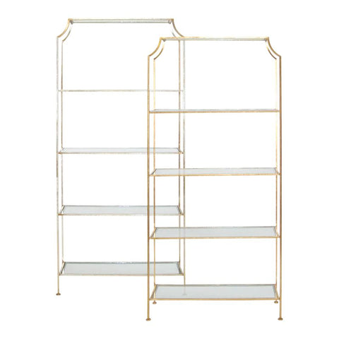 Chloe Silver Leaf Etagere design by BD Studio
