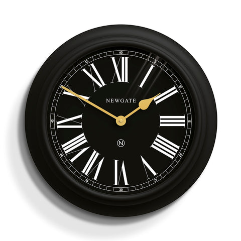 Chocolate Shop Wall Clock - Black