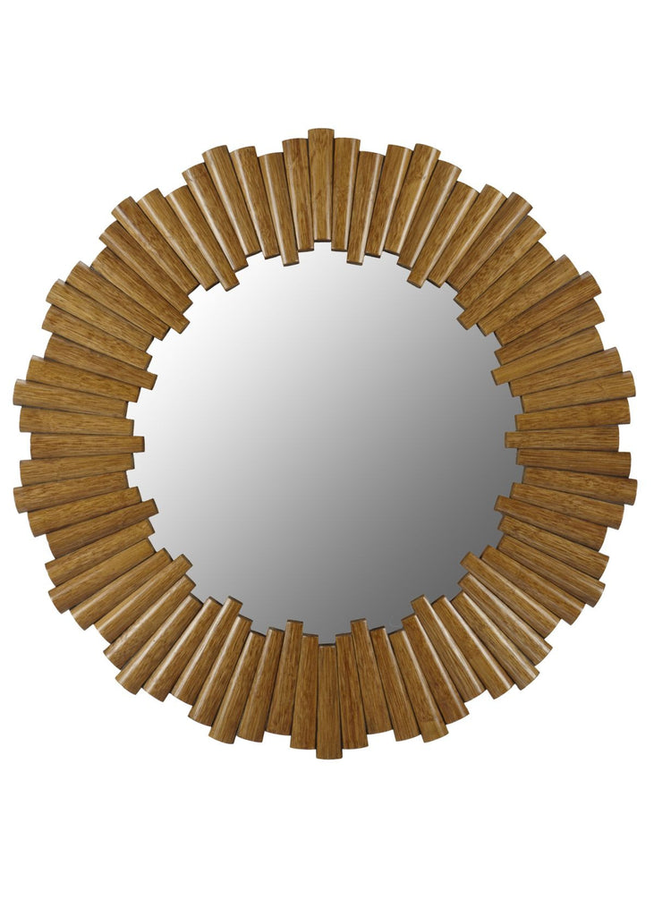 Charles Round Mirror in Nutmeg design by Selamat