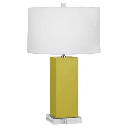 "Harvey Table Lamp (Multiple Colors) 33"" with Oyster Linen Shade design by Robert Abbey"