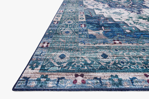 Cielo Rug in Ivory & Turquoise by Justina Blakeney for Loloi