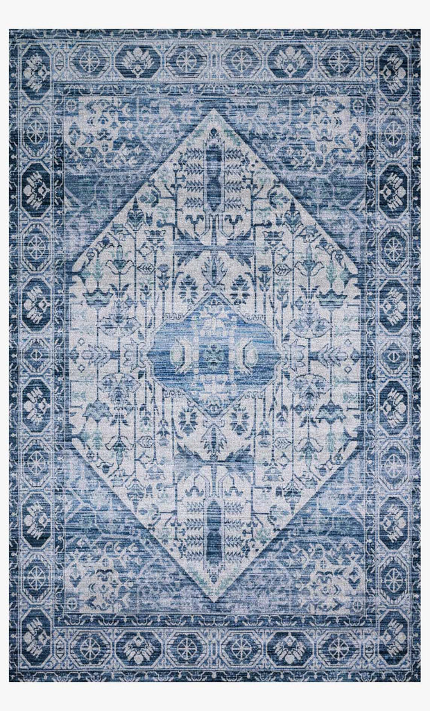 Cielo Rug in Ivory & Denim design by Justina Blakeney for Loloi
