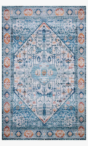 Cielo Rug in Ivory & Sunset by Justina Blakeney for Loloi
