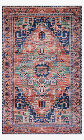 Cielo Rug in Coral & Multi by Justina Blakeney for Loloi