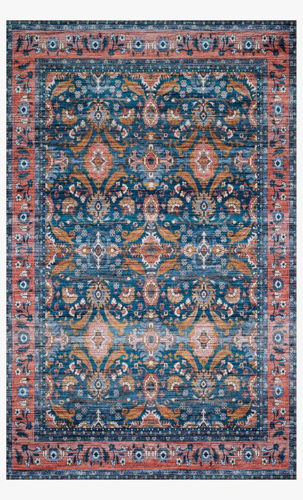 Cielo Rug in Ocean & Coral by Justina Blakeney for Loloi