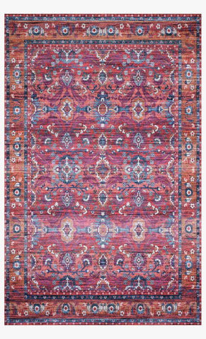 Cielo Rug in Berry & Tangerine by Justina Blakeney for Loloi