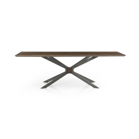 Spider Dining Table in English Brown Oak by BD Studio