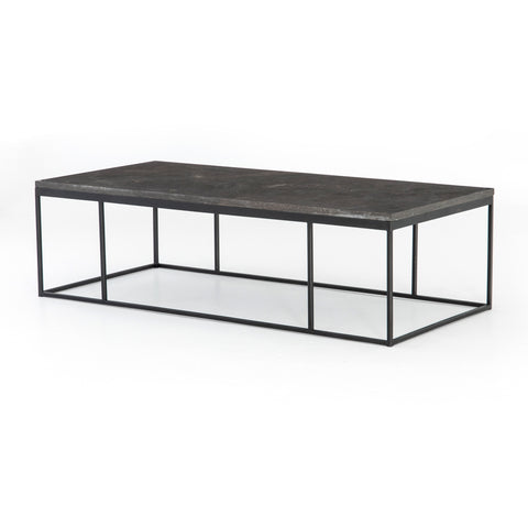 Harlow Small Coffee Table In Gunmetal
