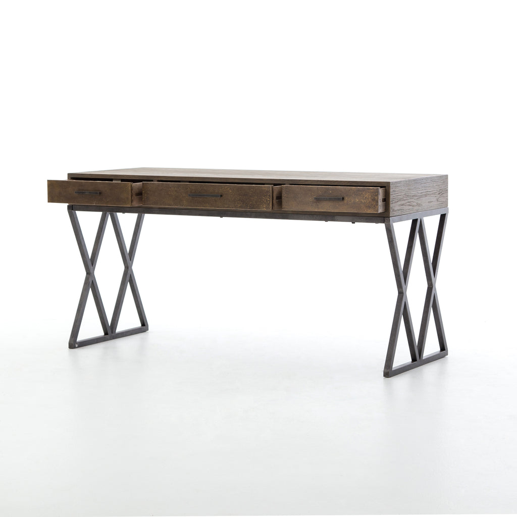 Sampson Desk In Light Grey Oak