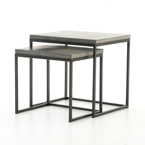 Harlow Nesting End Tables in Gunmetal
