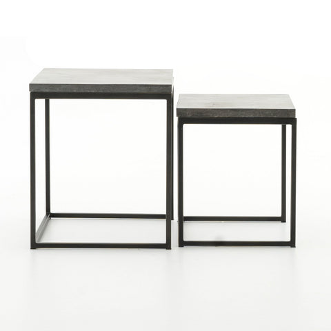 Harlow Nesting End Tables in Gunmetal by BD Studio
